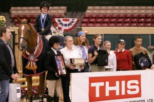 2008 Children's Medal Final Winner, Kristen Mohr on Lion King (21-year-old Dutch Warmblood Gelding owned by Lindsey Mohr)