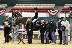 2011 Children's Medal Final Winner Pilar Flournoy on Reika (13-year-old Hanoverian mare owned by Pilar Flournoy)