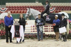 2013 Children's Medal Final Winner, John Porter on Kennebec (Dutch Warmblood gelding owned by Rebecca Clawson)